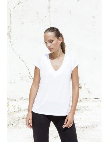 T-Shirt V-Neck Short Sleeves - Sea Island
