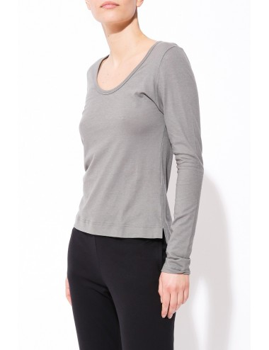 T-Shirt High Low Side Vents - Bamboo