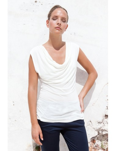 Draped Top - Seaweed